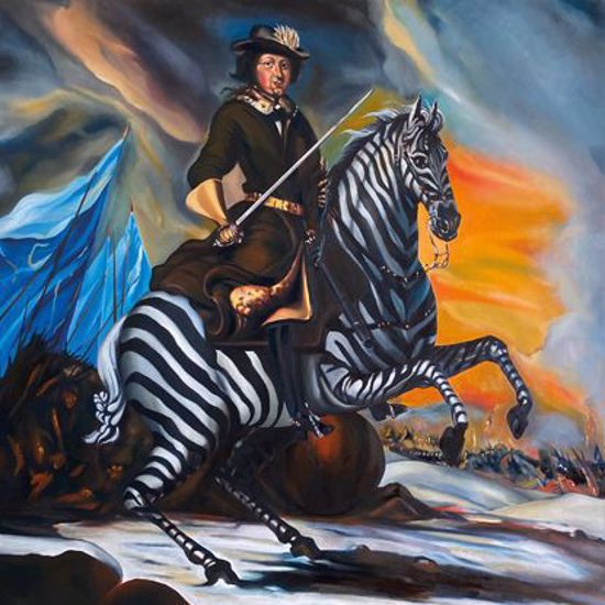 King Charles XII on a zebra